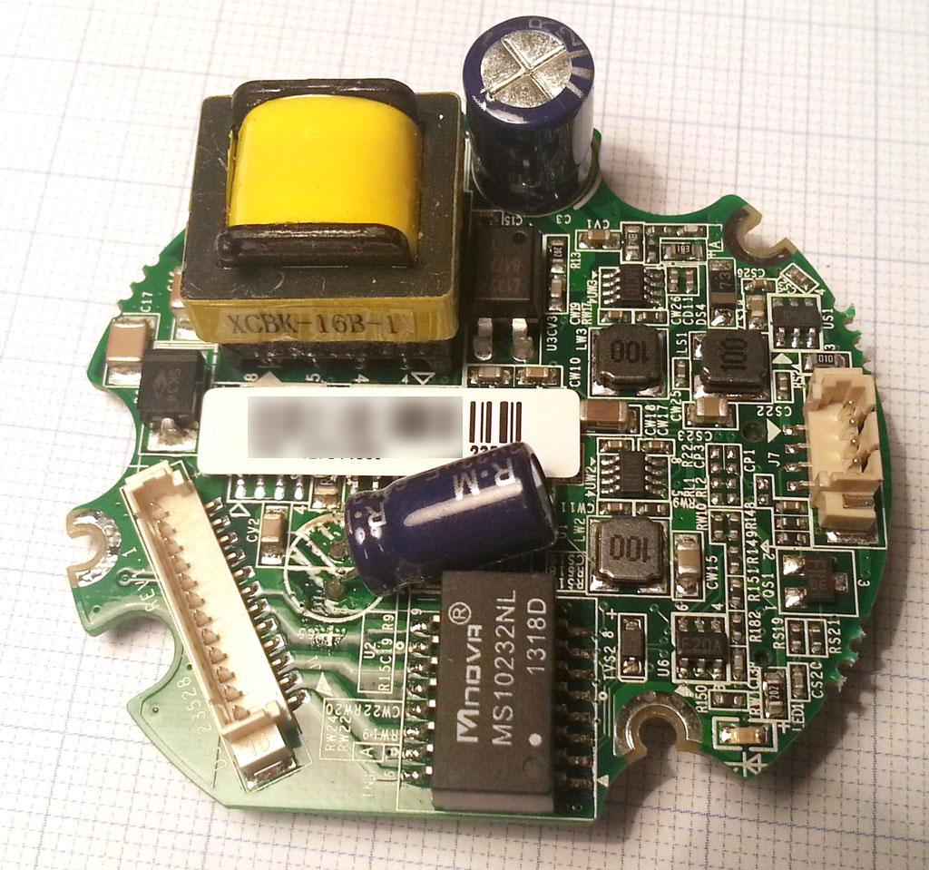 海康威视DS-2CD2032-I摄像头电源板正面